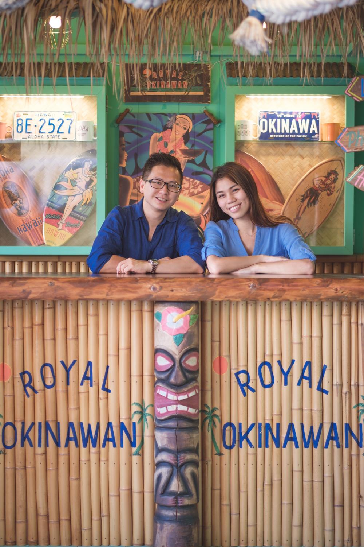 於沖繩北谷町美國村的情侶寫真