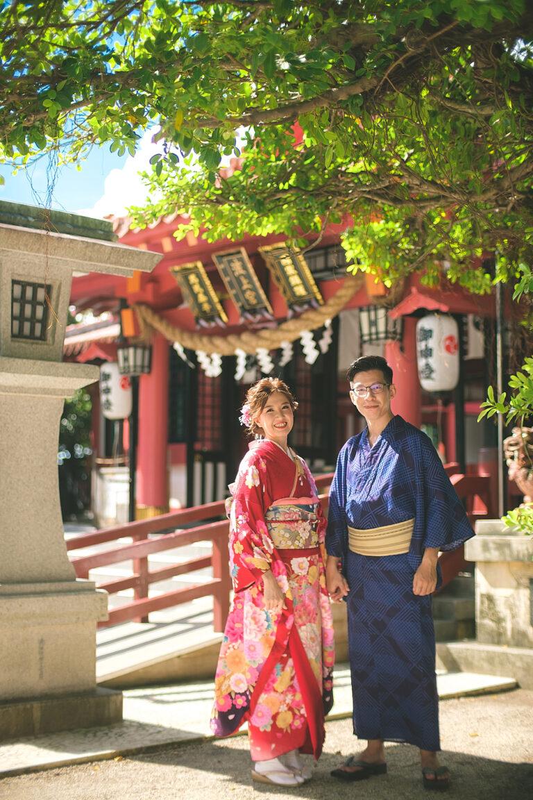 沖繩神社和服婚紗